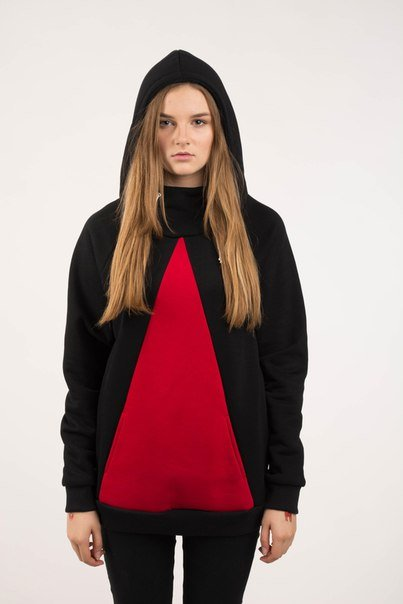 Худи  Easy W Triangle Black Red